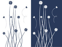 Conception bleue de fleurs illustration de vecteur