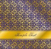 Conception bleue de luxe Configuration sans joint de papier peint Photo stock
