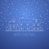 Conception bleue de Noël d'hiver Images libres de droits