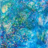 Conception bleue de scintillement de paysage marin Images libres de droits