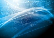 Conception bleue de technologie illustration stock