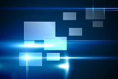 Conception bleue de technologie avec des rectangles Photos libres de droits