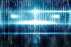Conception bleue de technologie avec la lueur Photo libre de droits