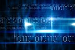 Conception bleue de technologie avec le code binaire Photo libre de droits