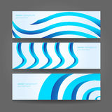 Conception bleue de vecteur de vague d'en-tête abstrait Photographie stock libre de droits