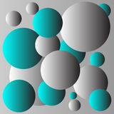 Conception bleue et grise de fond de boules Images libres de droits