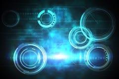 Conception bleue et noire de cadran Image libre de droits