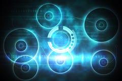 Conception bleue et noire de technologie Images stock