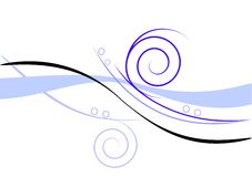 Conception bleue florale Photographie stock libre de droits