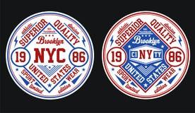 Conception Brooklyn, vecteur de typographie Illustration Stock