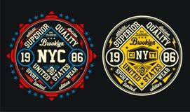 Conception Brooklyn, vecteur de vintage Image libre de droits