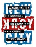 Conception Brooklyn, vecteur de vintage Illustration de Vecteur