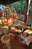 Conception brute intérieure de restaurant de style de Myanmar photo stock