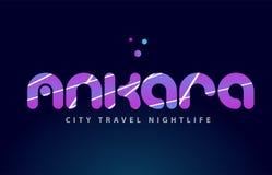 conception capitale européenne de typographie des textes de mot d'Ankara Image libre de droits