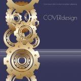 Conception carrée de couverture de brochure de vecteur avec d'or Photographie stock