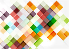 Conception carrée de modèle de mosaïque de forme universel illustration libre de droits