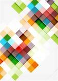 Conception carrée de modèle de mosaïque de forme universel illustration stock