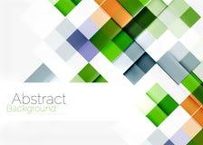 Conception carrée de modèle de mosaïque de forme universel illustration de vecteur