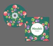 Conception CD de couverture de vecteur Calibres Editable Fond de conception florale?, contexte, conception de l'illustration illustration libre de droits