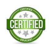 Conception certifiée d'illustration de joint de timbre Photographie stock libre de droits