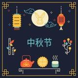 Conception chinoise de bannière de festival de lune Photos libres de droits