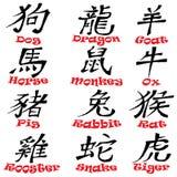 Conception chinoise de signes de zodiaque illustration libre de droits