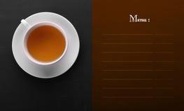 Conception classique de menu avec l'espace de copie Image libre de droits