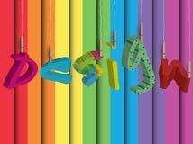Conception colorée Photos libres de droits