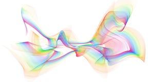 Conception colorée abstraite de fond de vagues de flamme - d'isolement illustration de vecteur