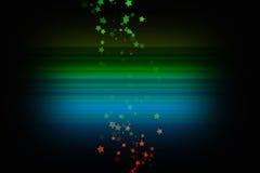 Conception colorée avec des étoiles Illustration de Vecteur