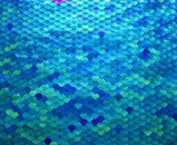 Conception colorée d'échelle de poissons en métal Photographie stock