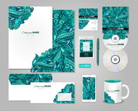Conception colorée de calibre d'identité d'entreprise Image stock