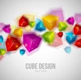 Conception de cube illustration libre de droits