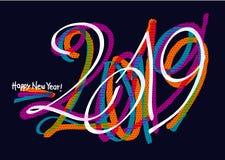 conception 2019 colorée de graffiti illustration libre de droits