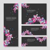 Conception colorée géométrique de triangles pour des bannières réglées illustration stock