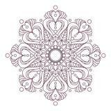 Conception complexe circulaire de mandala pour la coloration Images stock