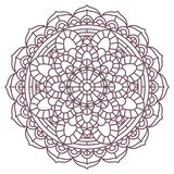 Conception complexe circulaire de mandala pour la coloration Image libre de droits