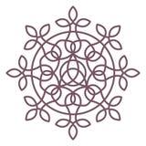 Conception complexe circulaire de mandala pour la coloration Photos libres de droits