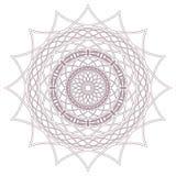 Conception complexe circulaire de mandala pour la coloration Photo libre de droits