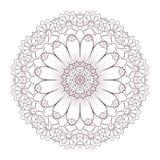 Conception complexe circulaire de mandala pour la coloration Photo stock