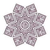 Conception complexe circulaire de mandala pour la coloration Photographie stock