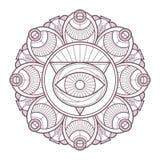 Conception complexe circulaire de mandala pour la coloration Images libres de droits