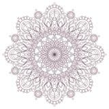 Conception complexe circulaire de mandala pour la coloration Image stock