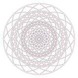 Conception complexe circulaire de mandala pour la coloration Photos stock
