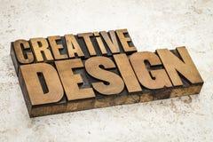 Conception créative dans le type en bois Images stock