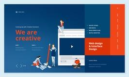 Conception créative de calibre de site Web Photo libre de droits
