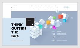 Conception créative de calibre de site Web Images libres de droits
