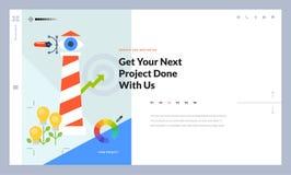 Conception créative de calibre de site Web Image stock