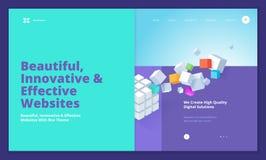 Conception créative de calibre de site Web Image libre de droits
