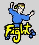 Combat d'icône Photo libre de droits